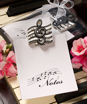 Musical Note Design Note Pad Gift Boxed Sample Favors With Flair
