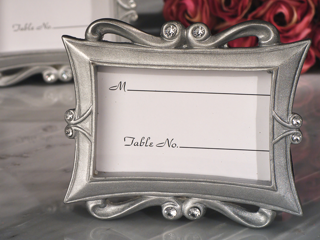 Elegance Silver Epoxy Frame | Favors with Flair!