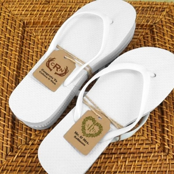 423560ab9e8a36 Wedding Flip Flops Monogram SET 16 Prs. White or Black + Personalized
